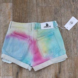 🆕 Jordache Tie Dye Pastel High Rise Denim Shorts